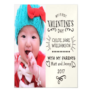 Baby's First Valentine Magnetic Photo Card