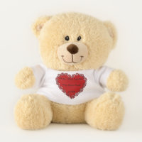Baby's First Valentine Personalized Teddy Bear