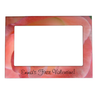 Baby's First Valentine! photo magnetic frames Pink