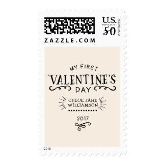 Baby's First Valentine Retro Postage