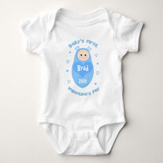 Baby's First Valentine's Day Baby Bodysuit