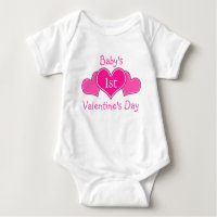 Baby's First Valentine's Day Baby Bodysuit