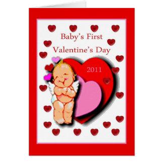 Baby's First Valentine's Day Card