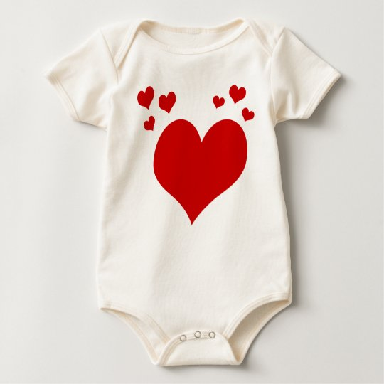 Baby's First Valentine's Day Hearts Outfit Baby Bodysuit