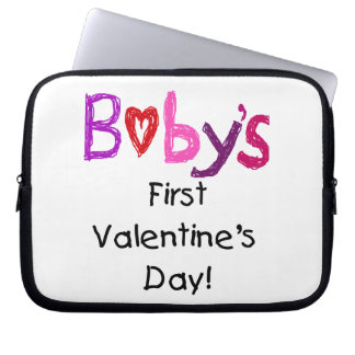Baby's First Valentine's Day Laptop Computer Sleeves