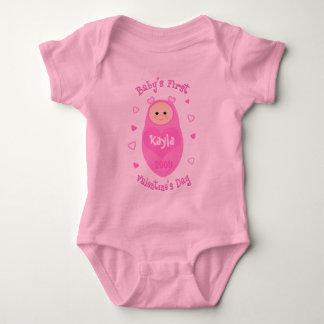 Baby's First Valentine's Day T-Shirt  Custom