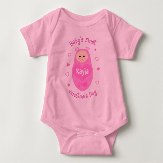 Baby's First Valentine's Day T-Shirt  Custom
