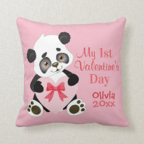 Baby's First Valentine's Day Throw Pillow