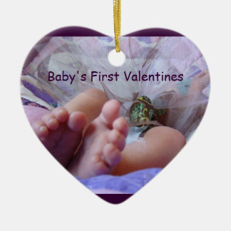 Baby's First Valentine's gifts Ornament Baby Feet