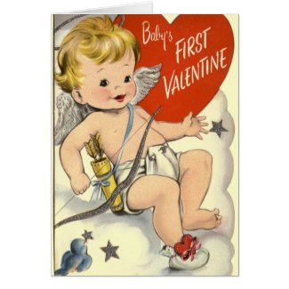 Baby's First Valentine's Greeting Card