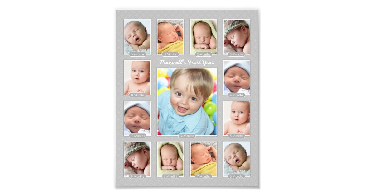 12 Months Baby Collage Photo Frame Picture Frame Ideas