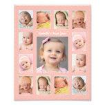 Baby's First Year Photo Keepsake Collage Print