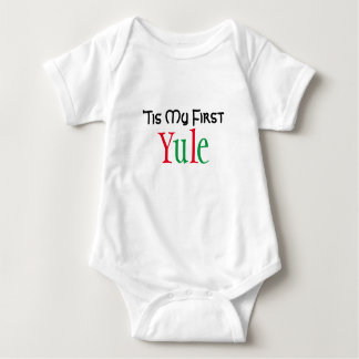 Baby's First Yule Baby Bodysuit