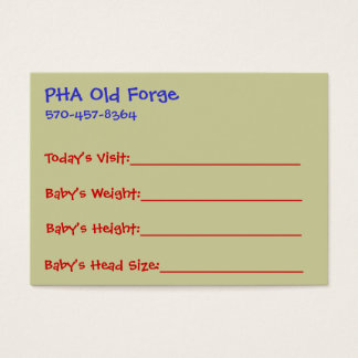 Baby's Growth Card