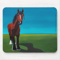 Baby's Horizon horse art mousepad by LAWebb