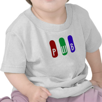 Baby's Initals in RGB T-shirts