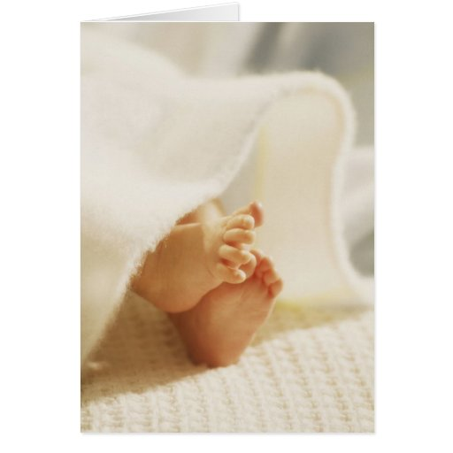 Baby's Little Feet Greeting Card
