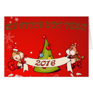 Baby's : my first new year - card