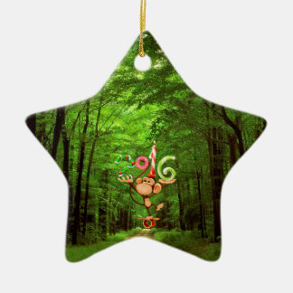 Baby's : my first new year - ceramic ornament