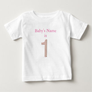 "Baby's Name is ""1"" by Leslie Harlow Baby T-Shirt"