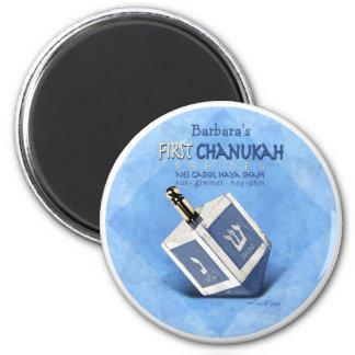 Babys primer Chanukkah Dreidel Imán Redondo 5 Cm