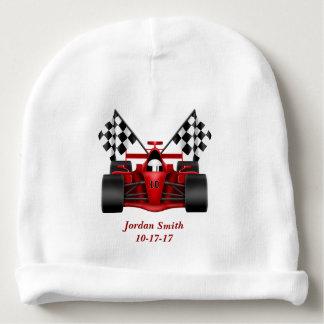 Baby's Race Car Checkered Flag Baby Beanie