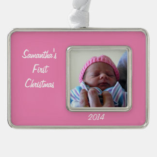 Baby's Rectangular Ornament Silver Plated Framed Ornament