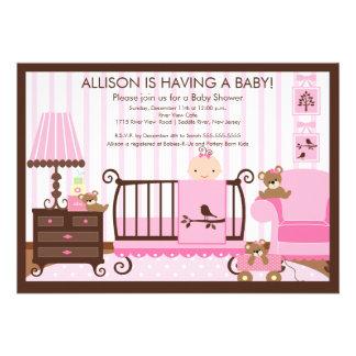 Baby's Room Baby Shower Invitation Girl