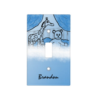 Baby's Room Blue Personalized Light Switch Cover