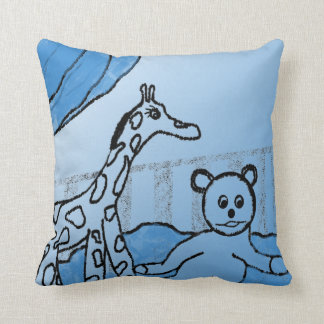 Baby's Room Blue Personalized Throw Pillow