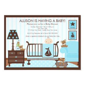 Baby's Room Boy Baby Shower Invitation