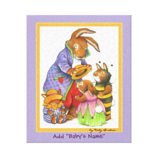 Baby's Room Bunny Picture Canvas Print