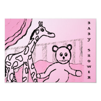 Baby's Room Pink Custom Baby Shower Invitation