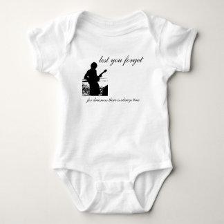 Baby's Silhouette Logo with Lyrics Baby Bodysuit