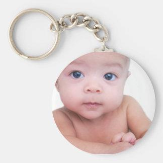 Baby's Spotlight Basic Round Button Keychain