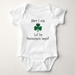 Baby's St Patrick's Day Let the Shenanigans Begin! Baby Bodysuit