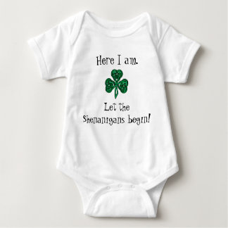 Baby's St Patrick's Day Let the Shenanigans Begin! Baby Bodysuit