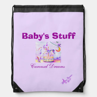 Baby's Stuff Carousel Dreams Drawstring Backpack