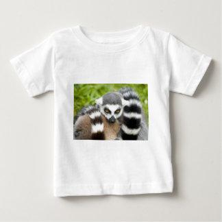 Babys T-Shirt - Cute Lemur Stripey Tail