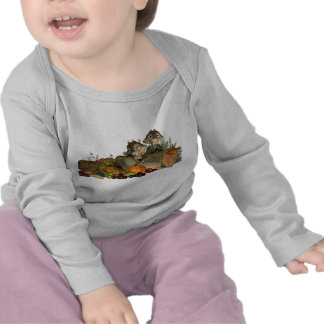 Baby's Thanksgiving Long Sleve Tee, Cute Squirells