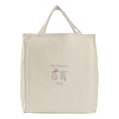 Baby's Things Embroidered Bag (Pink)