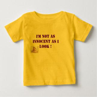babys tshirt im not as innocent as i look