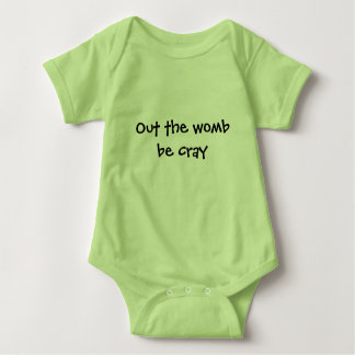 Baby's view of the world baby bodysuit