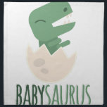 "Babysaurus Cloth Napkin<br><div class=""desc"">The Jurassic rules in this design!  Perfect for a bib,  shirt or more for every dino-loving kid who wants to be surrounded by his pre-historic pals!</div>"