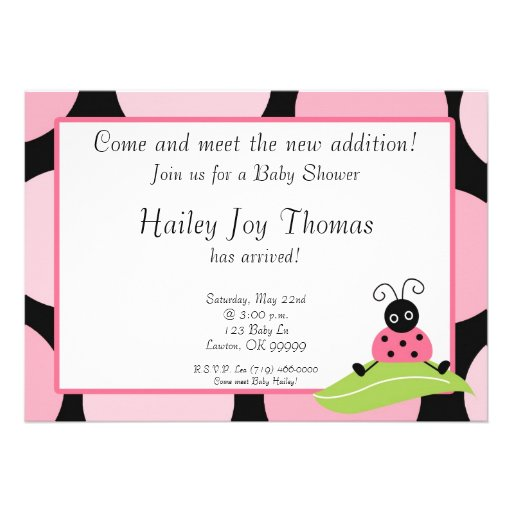 babysh, Come and meet the new addition!, Join ... Personalized Invitation