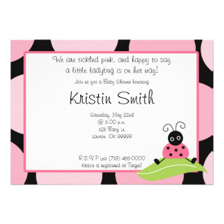 babyshow We are tickled pink, and happy to saya... Custom Invitation