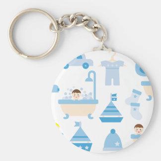 BabyShower2 Basic Round Button Keychain