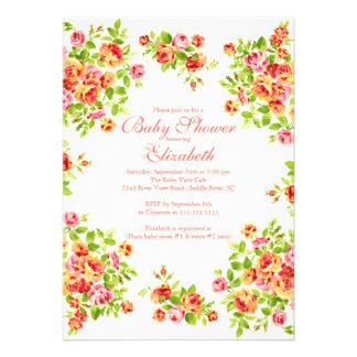 BabyShower floral subió melocotón rosado bonito