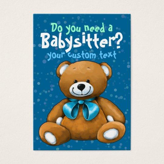 Babysitting Day Care Child Care: Babysitter Babysitting DayCare ChildCare Blue Business