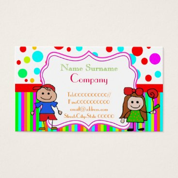 Toddler & Baby themed babysitter,babysitting, nursery school .... business card